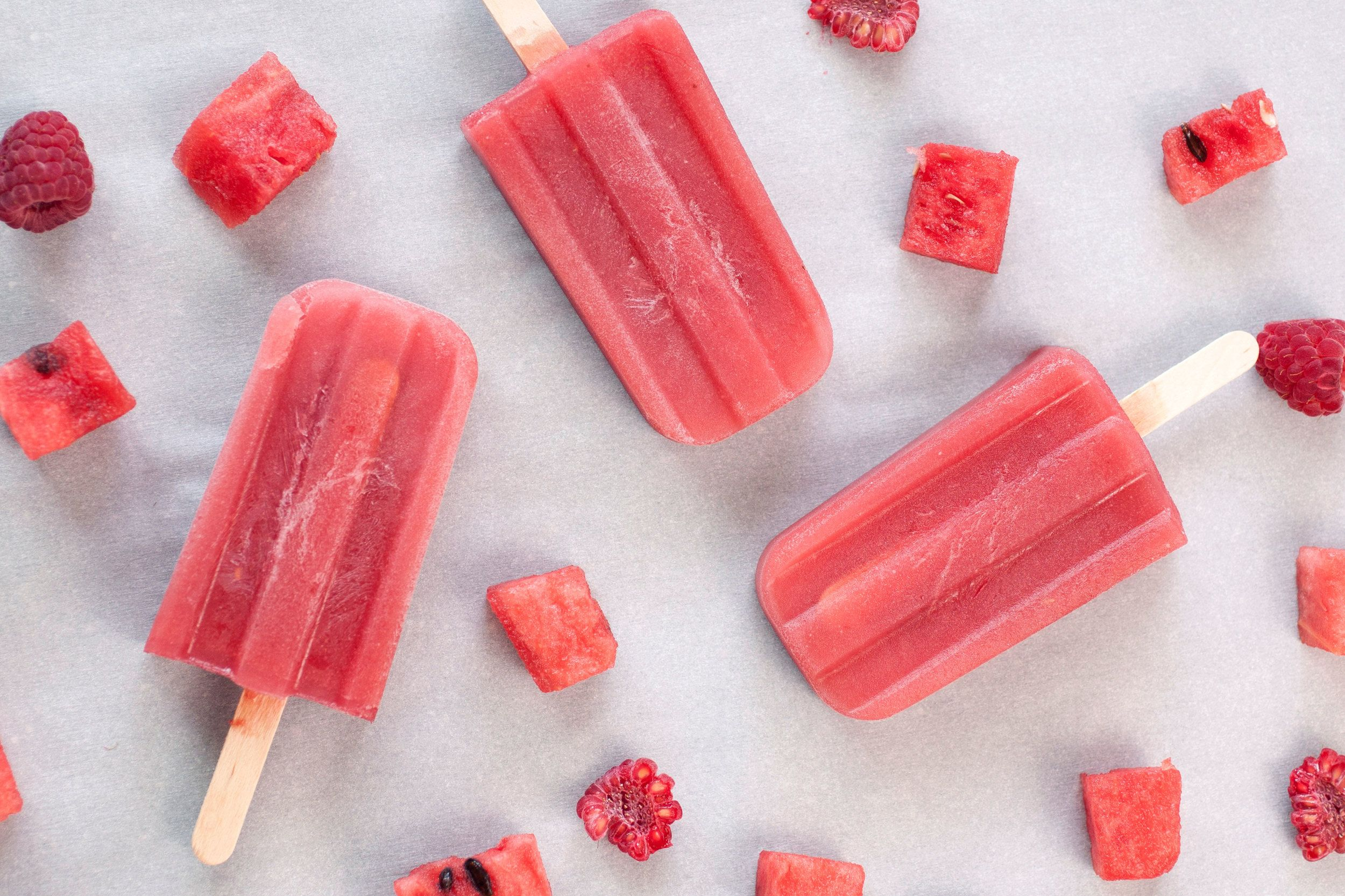 Watermelon Raspberry Popsicles — of the dirt