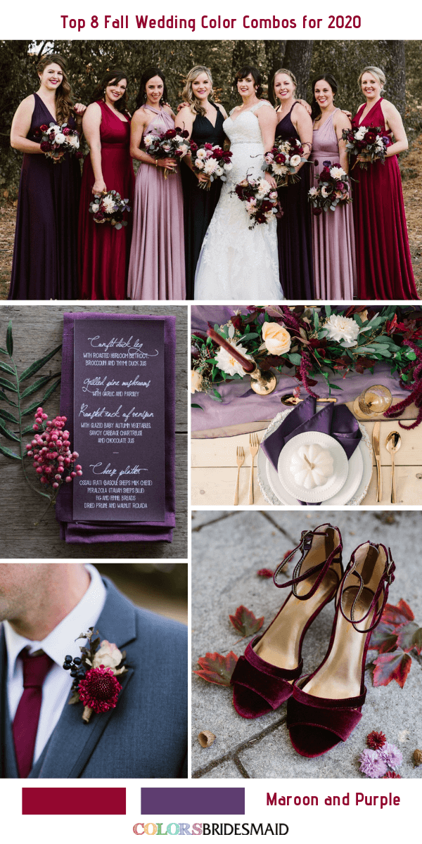 Top 8 Fall Wedding Color Combos for 2020 Wedding colors