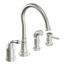 Lindley Collection Moen High Arc Kitchen Faucet Single Hole Kitchen Faucet Kitchen Faucet