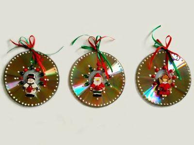 Adornos navideños hechos de CDs - Intereses   Costura y Manualidades