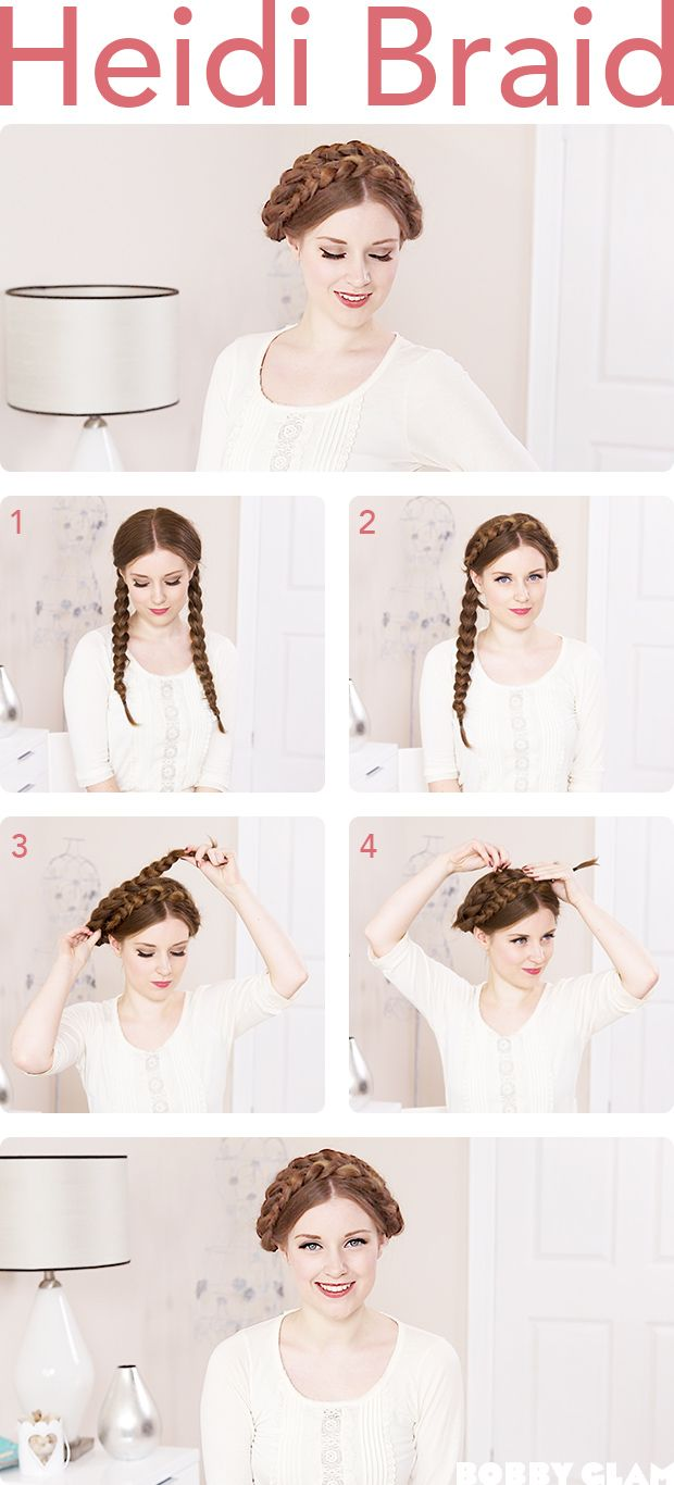 DIY Heidi Braid Hairstyle Hair Plaits Pinterest Braid - Braid diy pinterest