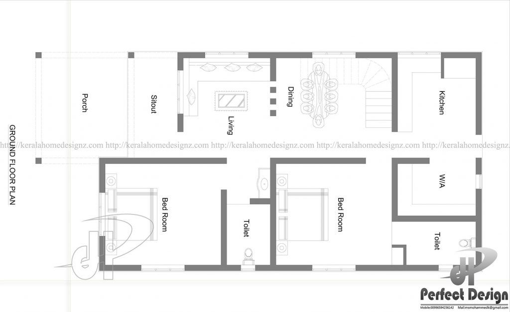 Beautiful And Simple Home Plan Designed To Be Built In 98 Square Meters Myhomemyzone Com House Plans Story House Simple House Plans