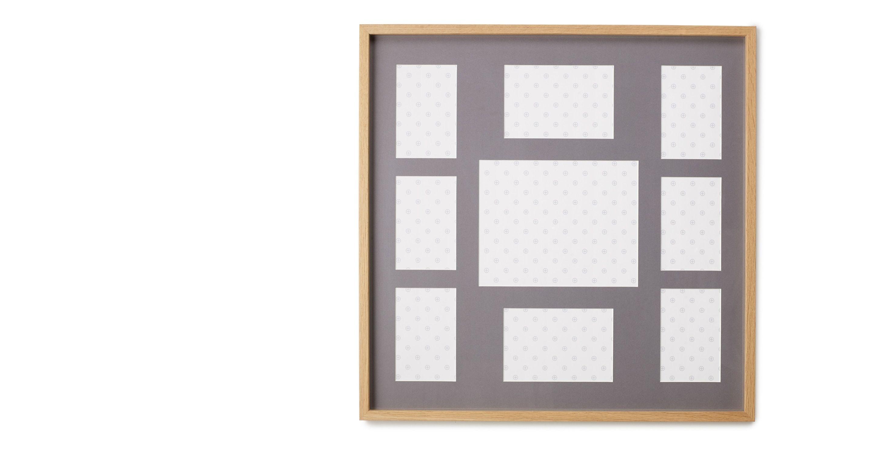 Portland Picture Frame 9 Aperture 58 x 58 cm Oak w Grey Mount from ...