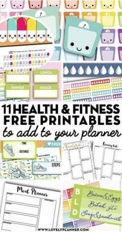 New fitness goals printable diet ideas #fitness #diet