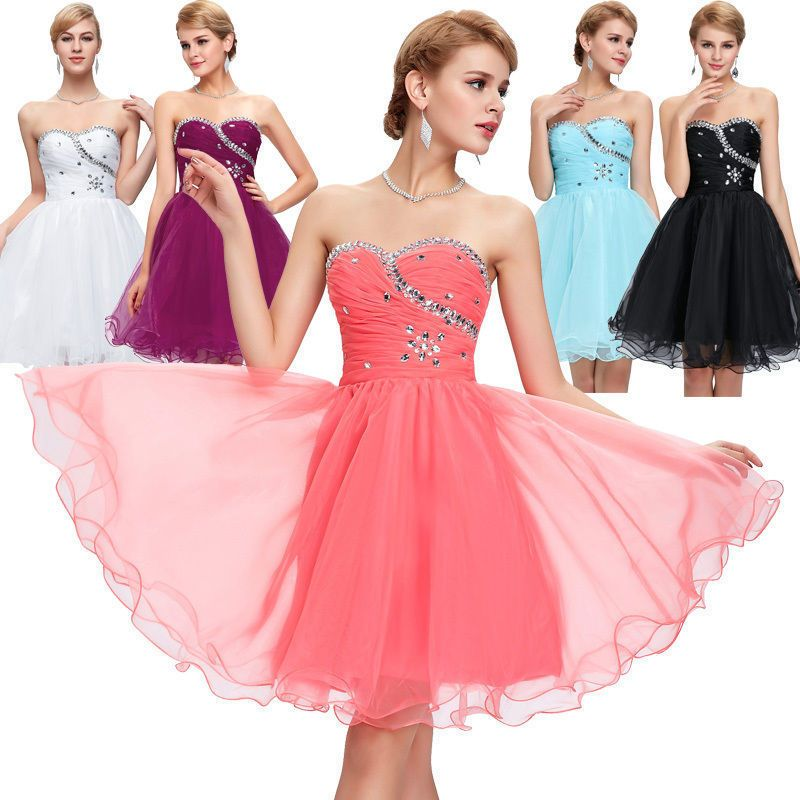 Girl Short Homecoming Formal Prom Dress Cocktail Ball Evening Party ...