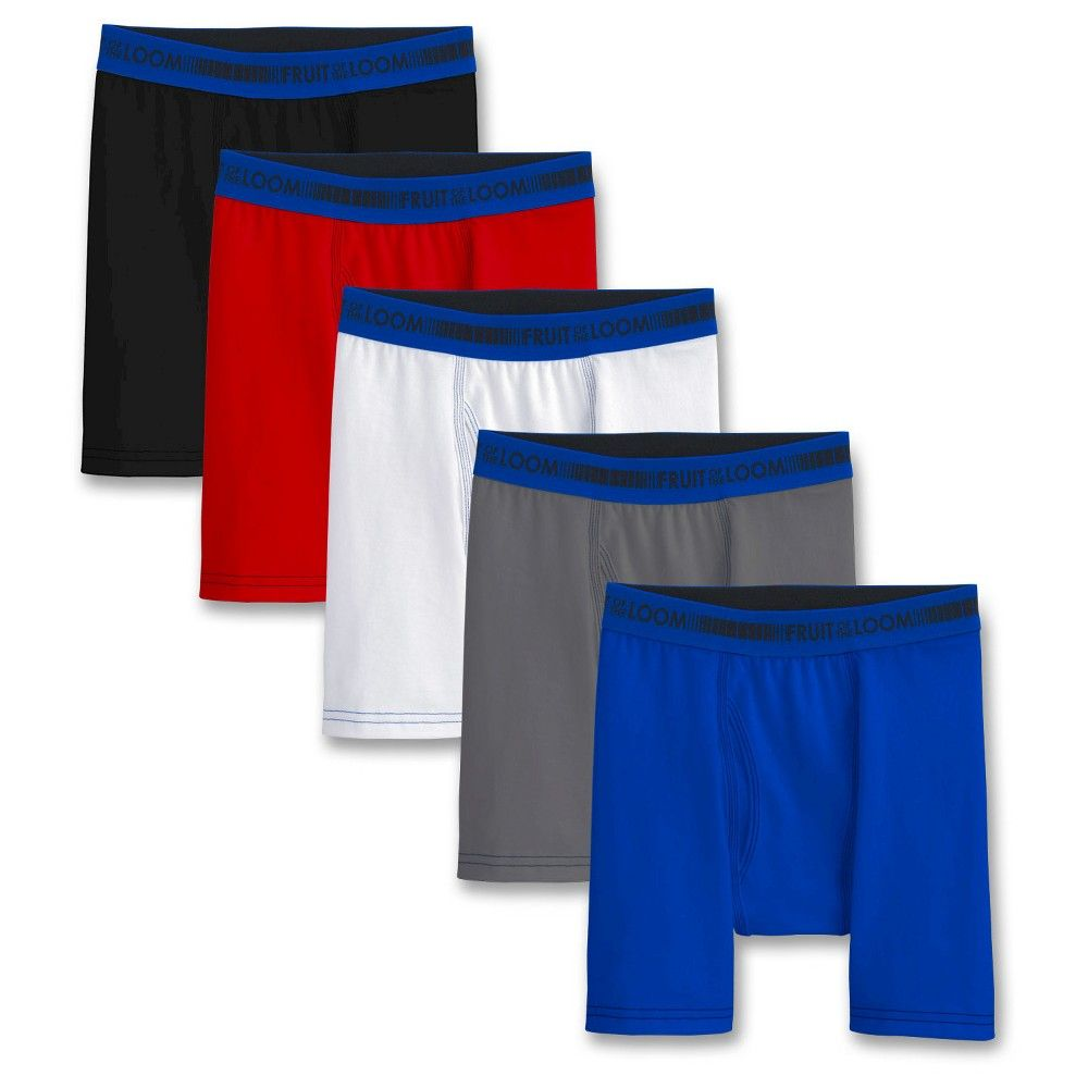 Fruit of the Loom Boys' 5-Pack Boxer Briefs - Multi, Boy's, Size: