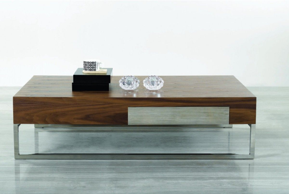 Contemporary Rectangular Coffee Table Coffee Table Walnut Coffee Table Modern Modern Square Coffee Table