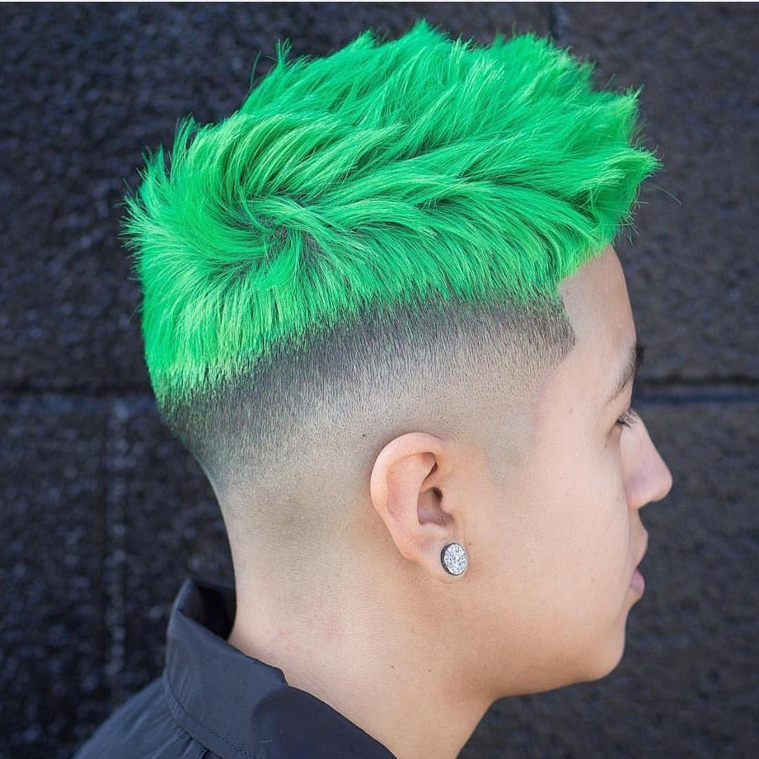 40 Mind Blowing Guys Hair Color Ideas Try In 2017 Boys Colored Hair Green Hair Men Mens Hair Colour