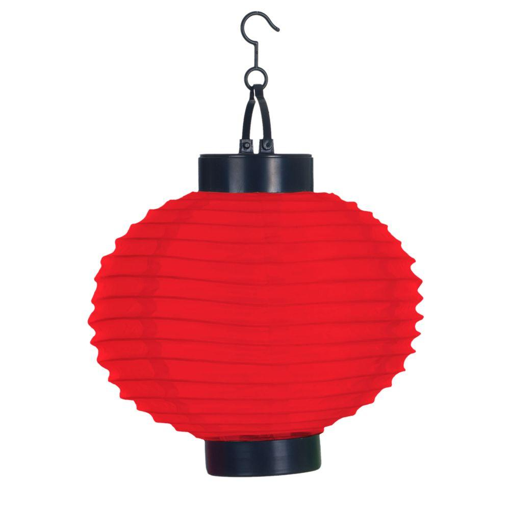 Pure Garden 4 Light Red Outdoor Led Solar Chinese Lantern