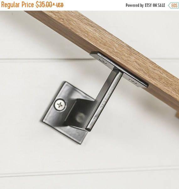 Linear Handrail Bracket 1 4 Steel Plate Bracket Wall Etsy Handrail Brackets Handrail Rustic Industrial Lighting