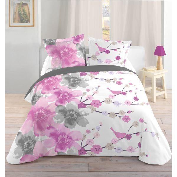 parure de lit comprenant la housse de couette 240x260 cm avec son dessin plac et ses - Parure De Lit 240x260