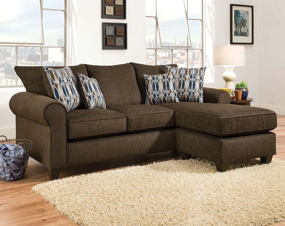 Radar Chocolate 2 Pc Sectional Sofa Small Es Brown