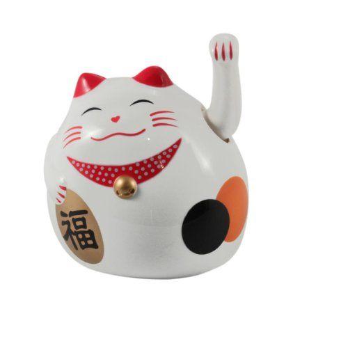 Superfreak Winkekatze Gluckskatze Winkende Katze Maneki Neko Farbe Weiss Grosse 8cm Amazon De Kuche Haushalt Maneki Neko Winkende Katze Gluckskatze