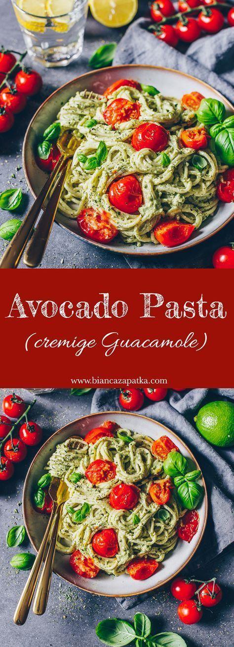 Cremige Avocado Pasta (Guacamole) - mittagessen Cremige Avocado Pasta (Guacamole) - Edeline Ca.