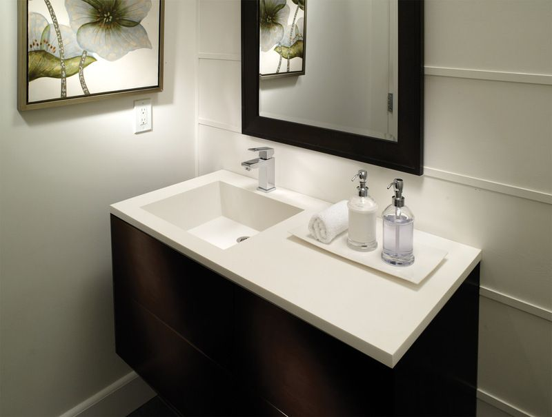 Petra Counter Sink Custom Bathroom Vanity Contemporary Bathroom