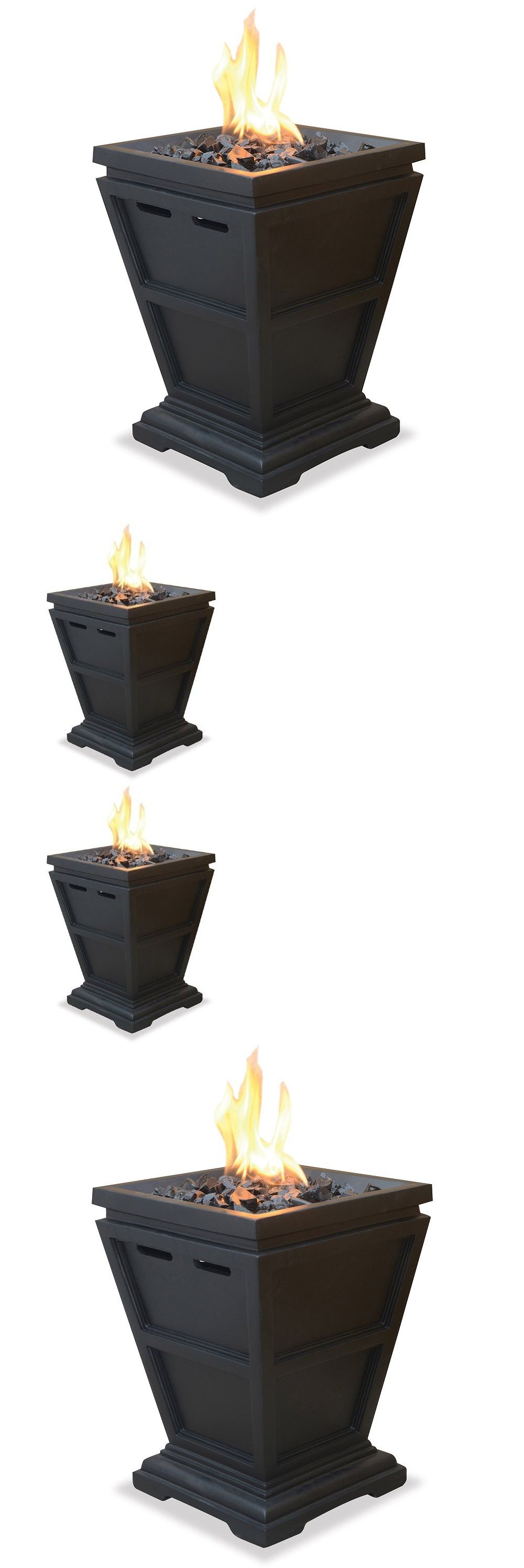 Patio heaters fire table small gas fireplace standing column