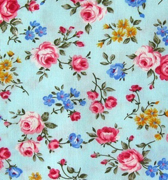 More Vintage Floral Fabric