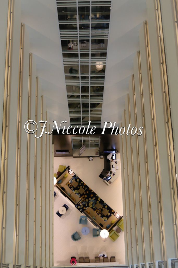Hotel lobby...view from above