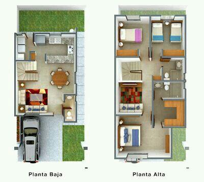Casa Pequena Plan Photoshop Pinterest Plantilla De Casa - Planos-de-casas-de-una-planta-pequeas
