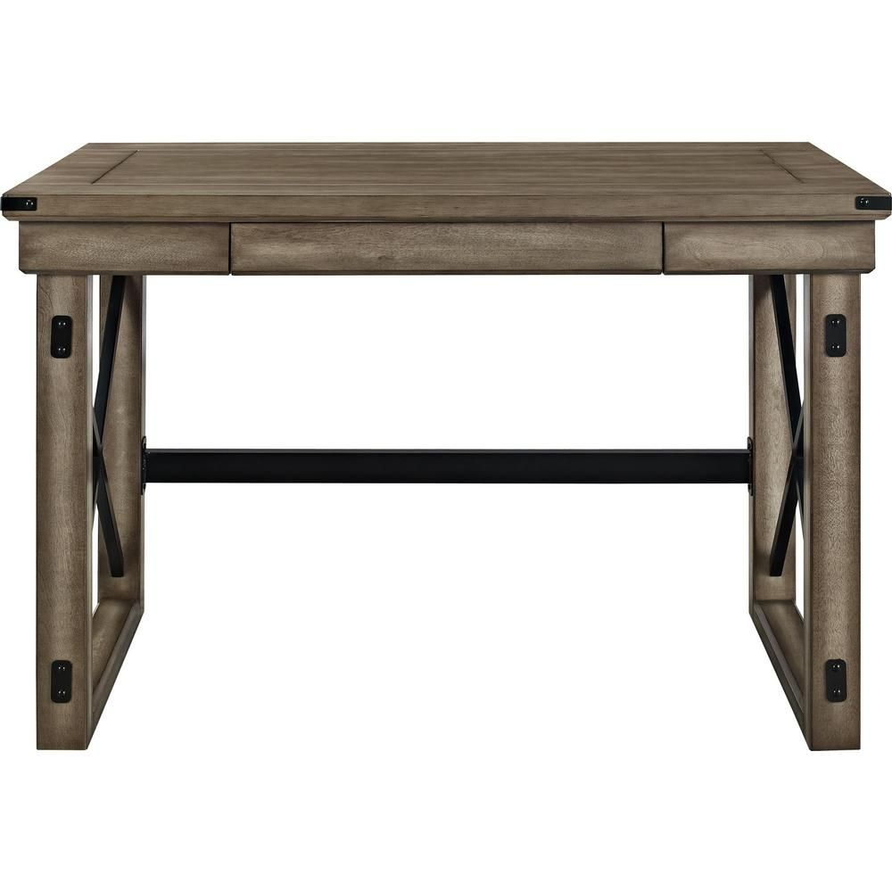 Amazing Ameriwood Home Forest Grove Rustic Gray Computer Desk With Home Interior And Landscaping Ologienasavecom