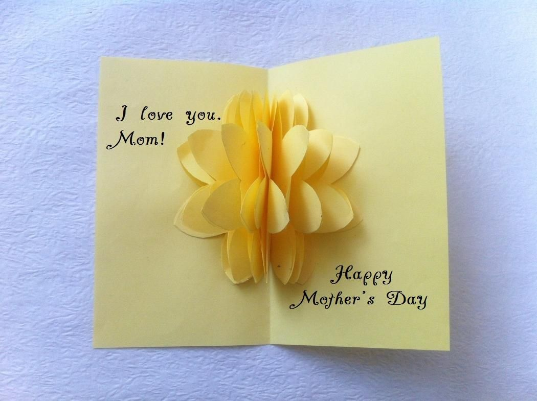 Diy pop up flower motherus day card aşk