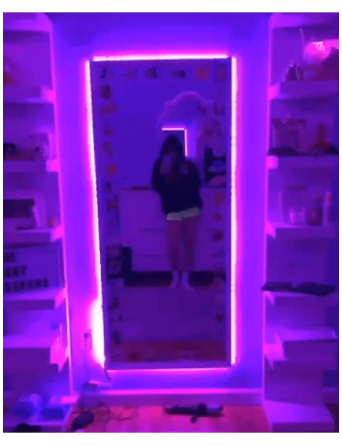 This Mirror Passes The Vibe Check Tumblr Room Ideas Bedrooms Teenagers Flash Warning Led Light Led Lighting Bedroom Room Ideas Bedroom Bedroom Makeover
