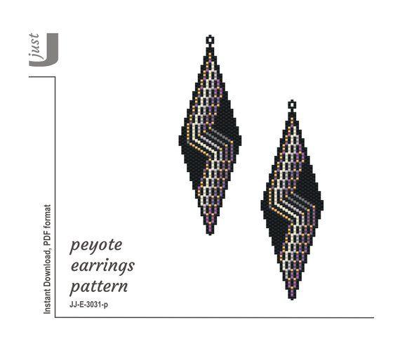 Earrings Pattern, Peyote Stitch, Earrings Seed Bead