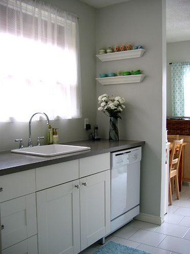 IKEA Adel Kitchen, Like The Grey Counter