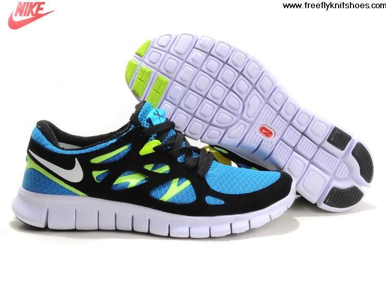 save off 110e8 f171d New Womens Blue Glow White Black Volt Nike Free Run 2 Shoes Fashion Shoes  Store Nike