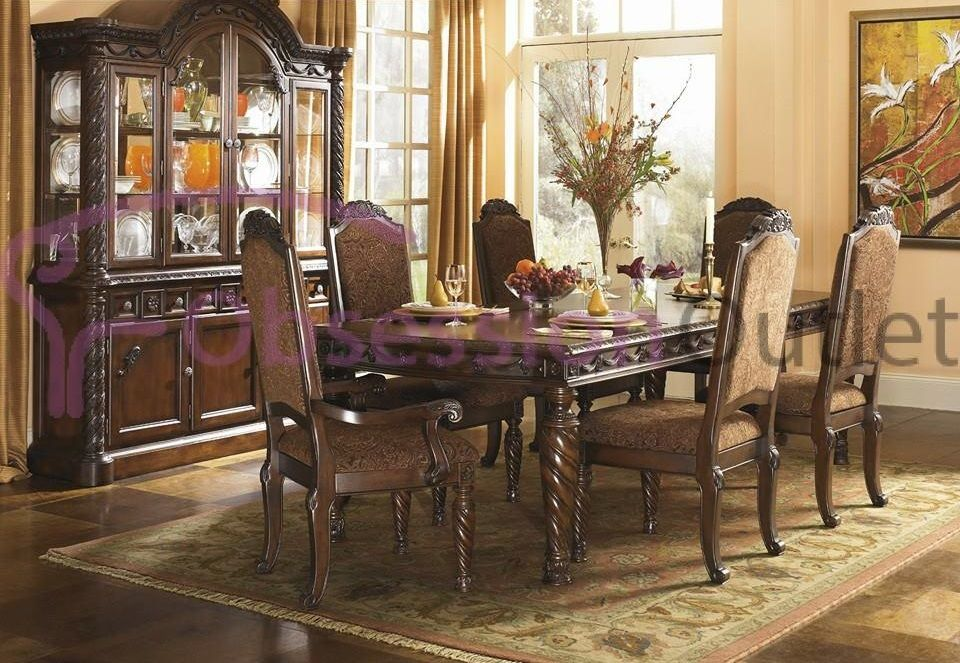 Sku Dtc55 Obsession Outlet Ashley Furniture Dining Room Brown Dining Room Set Dining Room Furniture Sets