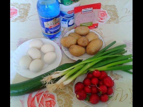 OKROCHKA. Russische kalte suppe okroschka