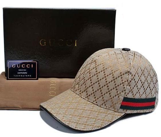 01f66f5332fc2 Gucci Baseball Cap with Embossed Gucci Trademark Logo