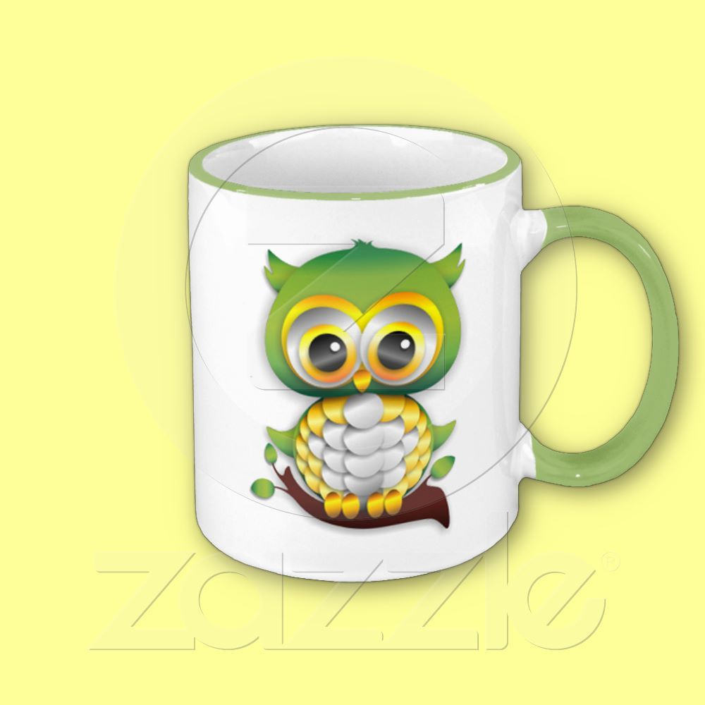 Baby owl paper craft mug owl paper and baby owl baby owl paper craft mug jeuxipadfo Choice Image