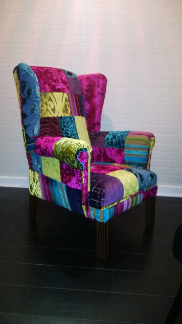 Patchwork Chair Www Katiemoore Co Uk Patchwork Chair Patchwork Furniture Funky Chairs