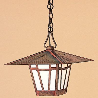 Arroyo Craftsman Westmoreland 1 Light Outdoor Hanging Lantern Size: 1
