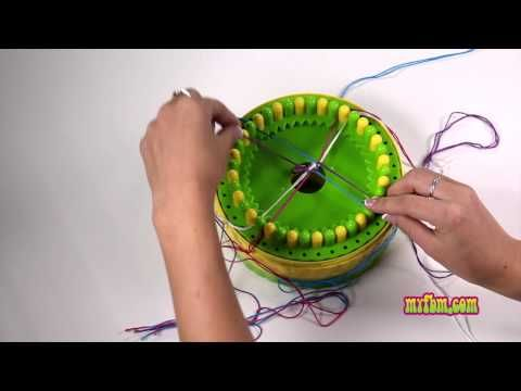 How To Make A Kumihimo Friendship Bracelet with a Confetti Pattern - YouTube