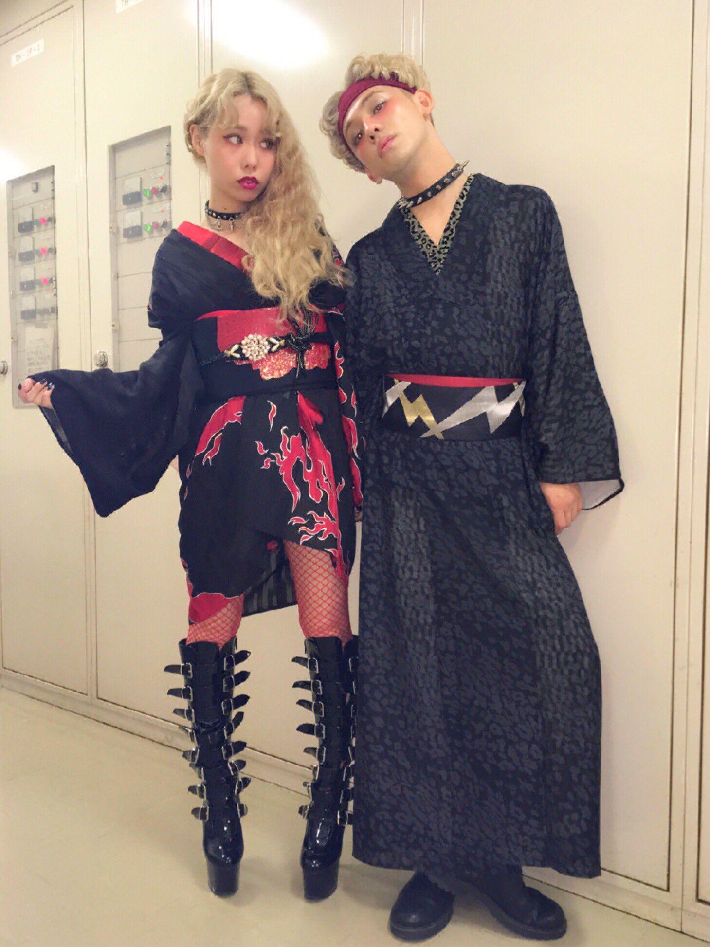 Modern KIMONO style. ぺこ&りゅうちぇる
