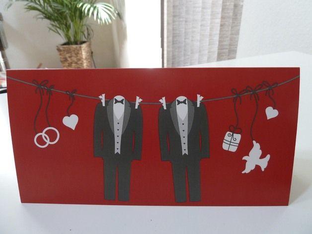 Karte Zur Hochzeit Schwul Karte Hochzeit Hochzeit Homosexuelle Hochzeit