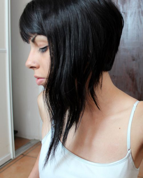 Leaning Towards Something Like This Long Front Super Short Back Hairstyles Pinterest Shorts School Hair And Style