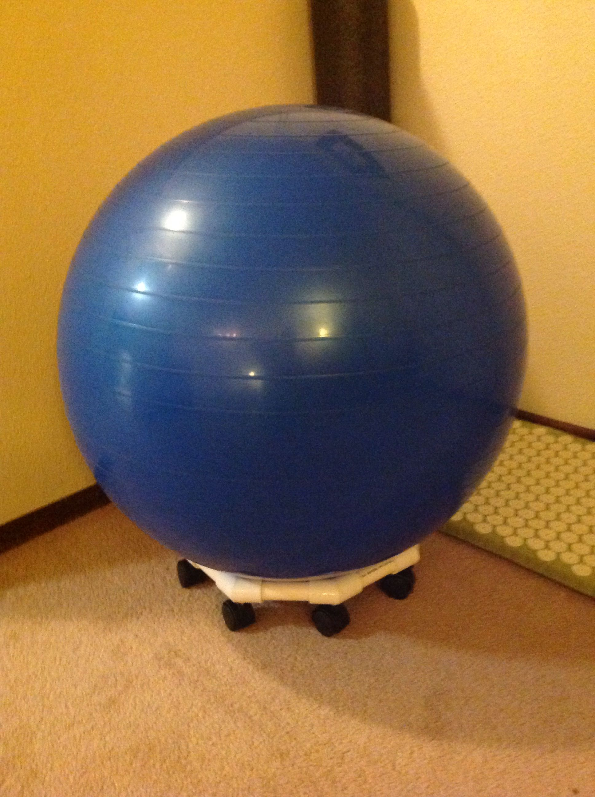 Diy Exercise Ball Chair Base Red Club Chairs Pinterest