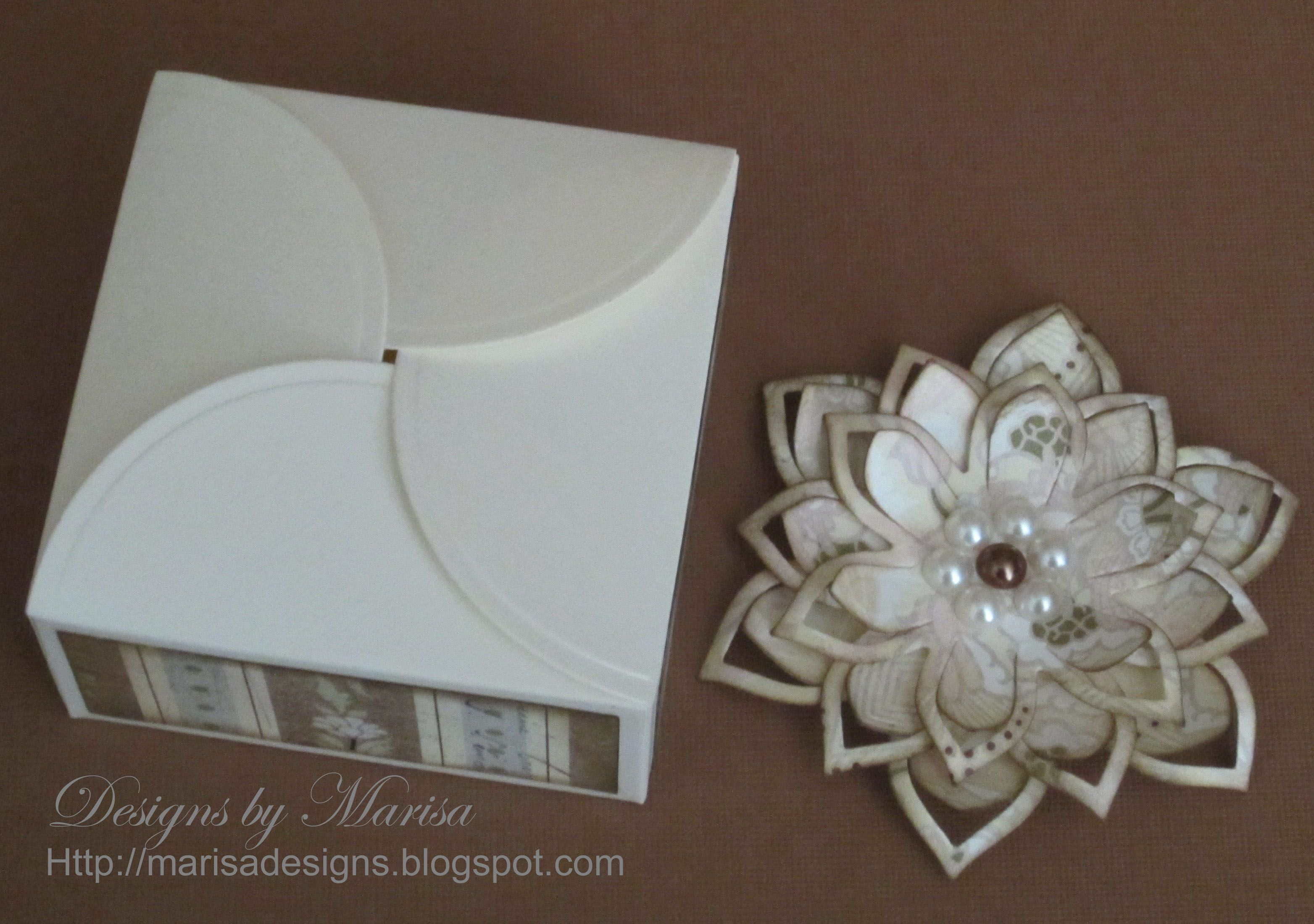 Square Petal Top Box Using Spellbinders Die Templates Gift Boxes