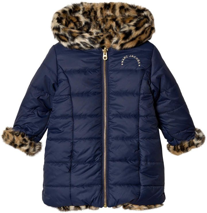 1bcdc776417d Leopard Print Reversible Puffer Coat  detailing lining hood