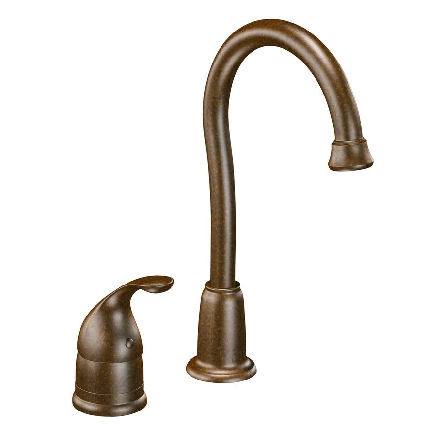 Shop Moen Camerist Oil Rubbed Bronze Handle Kitchen Faucet Lowes Interior  Design Mirrored Bathroom Wall