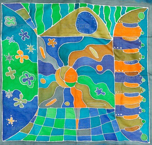 Abstract Pattern On Handmade Silk Batik ... Abstract