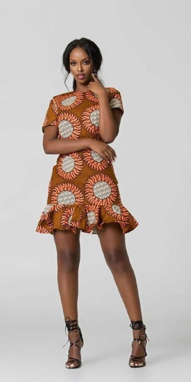 2018 Ankara Short Gown Styles | Robe africaine, Robe ...