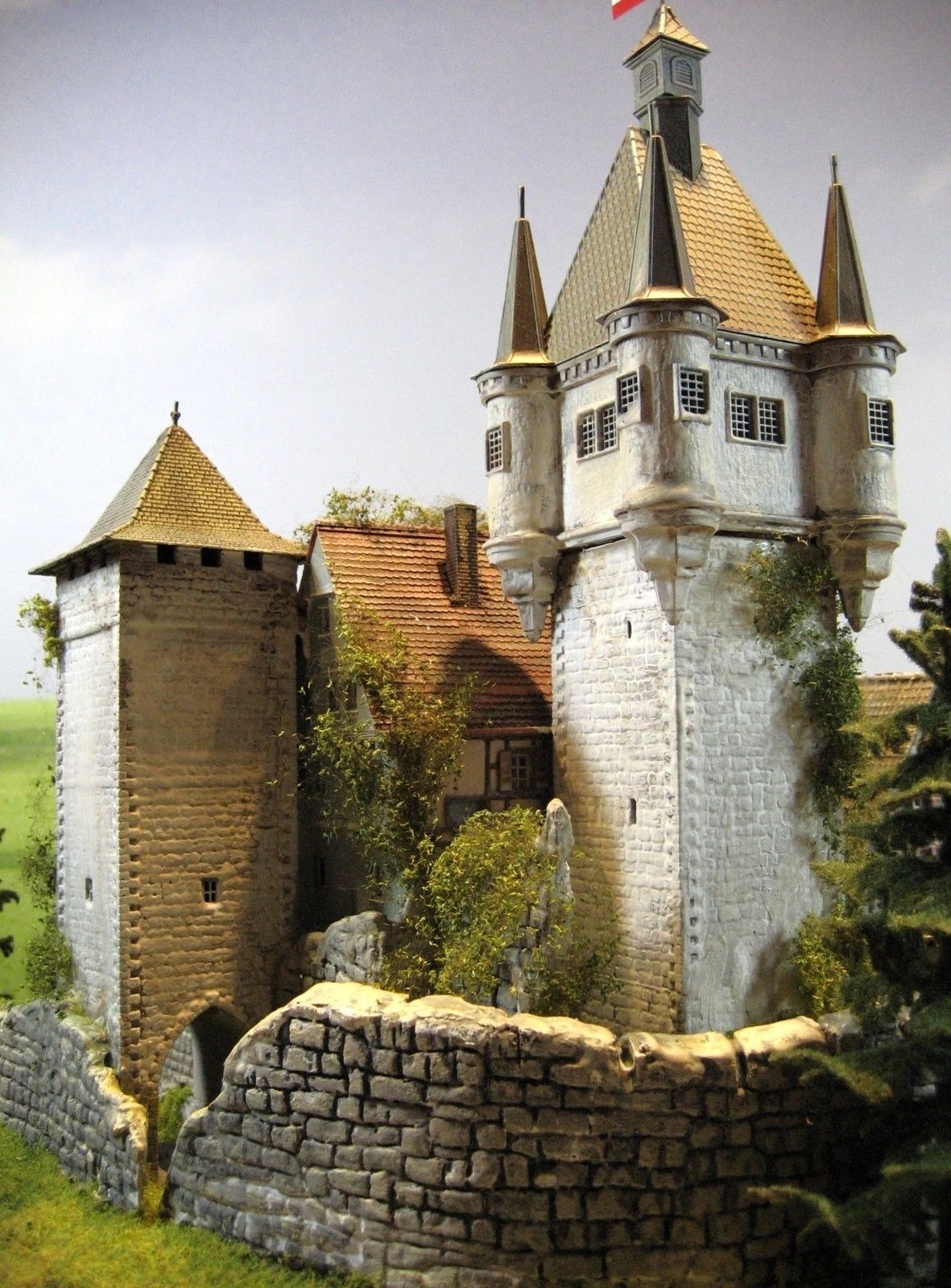 burg schloss festung diorama burg wehrfried in modellbau modelleisenbahn spur h0. Black Bedroom Furniture Sets. Home Design Ideas