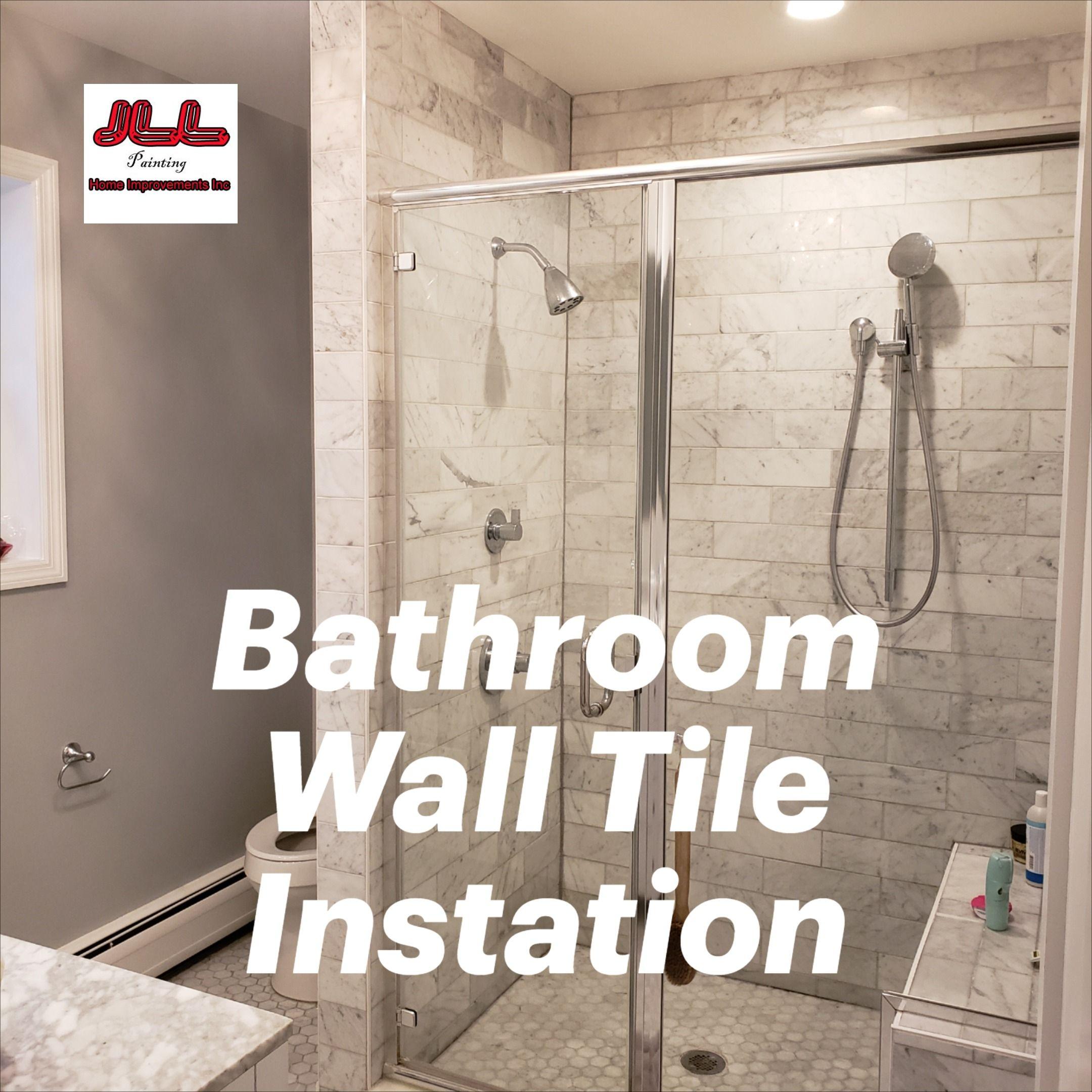 Tile Installers Near Me Bathroom Tile Contractors Near Me Jll Painting In 2020 Bathroom Tile Installation Bathroom Wall Tile Tile Bathroom