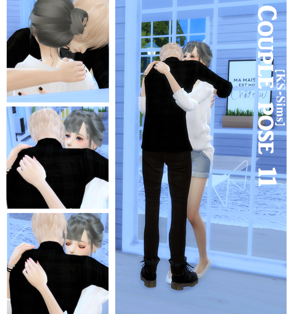 Sims 4 couple poses : Romantic Hugs - Poses TS4 | Sims 4 CC Finds |  Pinterest | Sims, Pose and Sims cc