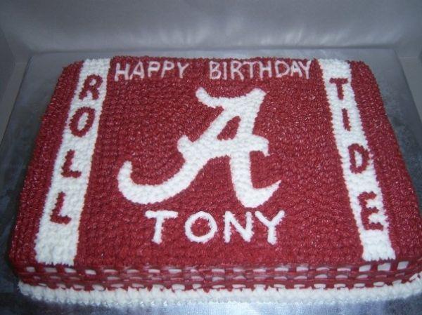Stupendous Alabama Birthday Cakes Alabama Birthday Cakes Birthday Sheet Personalised Birthday Cards Veneteletsinfo