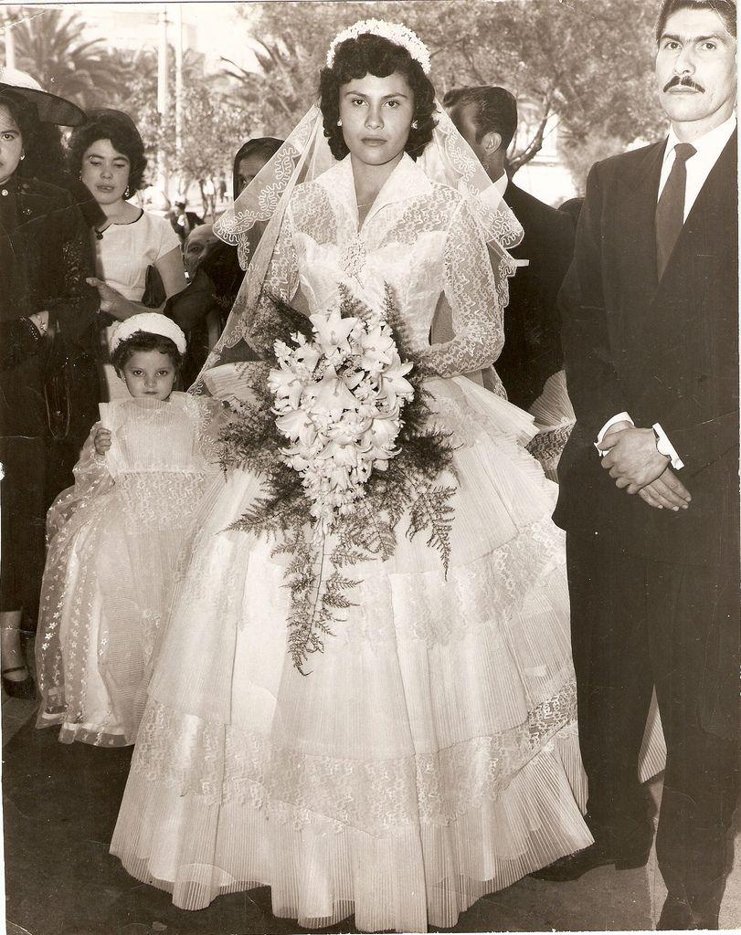 1958. Bride Virginia Mexico City Vintage wedding photos